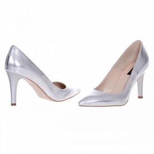 pantofi stiletto argintii  1