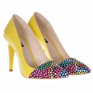 pantofi stiletto piele naturala medeea galben s77 1