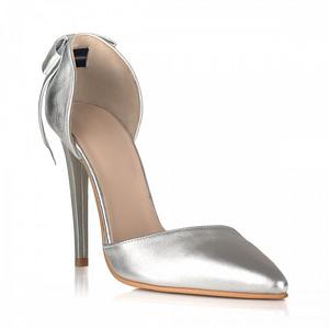 pantofi stiletto revolution argintii 1