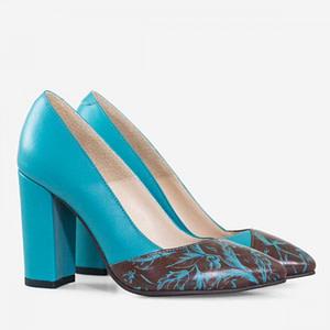 pantofi stiletto turcoaz d04 1