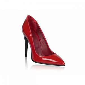 pantofi stiletto very chic lac rosu