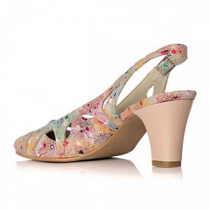 pantofi toc mic multicolor 1