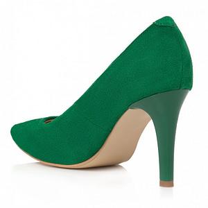 pantofi verzi din piele viviane l102 1