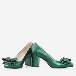 pantofi verzi piele naturala  1