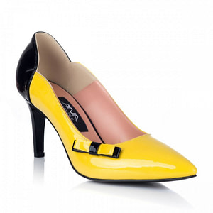 stiletto yellow chic toc 8cm 1  1