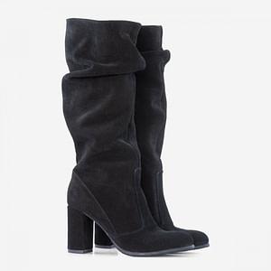 cizme negre din piele naturala carly d55 1