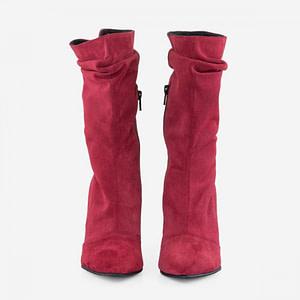 cizme rosii piele naturala rufle d105 1