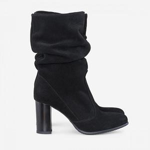 pantofi negre piele naturala mira d104 1
