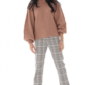 a chunky crop style jumper in powder pink roh br2393 9713 1 1
