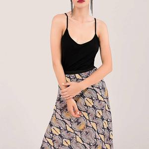 beige snakeskin print skirt roh fr455 8659 1