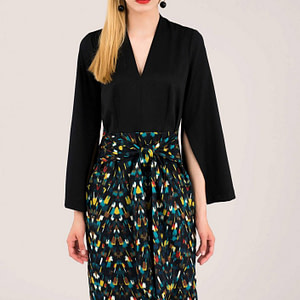 black 2 in 1 dress roh dr3908 8618 1