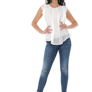 bluza alb cu volane roh br2310 9391 1