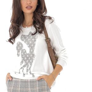 bluza alba bambi cu aplicatii sralucitoare roh br2208 8916 1