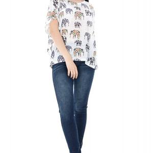 bluza alba cu imprimeu elefanti br1359 5627 1