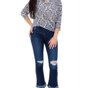 bluza alba roh cu imprimeu bleumarin br1871 7415 1