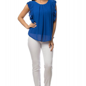 bluza albastra cu volane br1432 5881 1