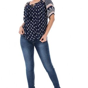 bluza bleumarin cu bordura br1239 5219 1