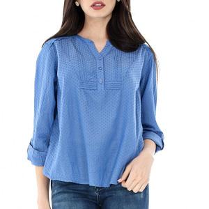 bluza casual albastra roh din bumbac br1740 6812 1