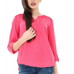 bluza casual coral roh din bumbac br1741 6813 1