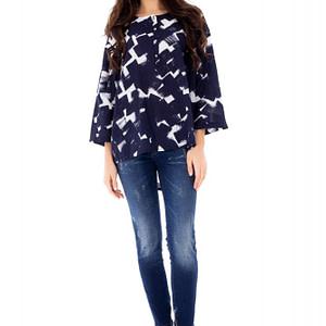 bluza casual roh imprimeu abstract br1705 6722 1