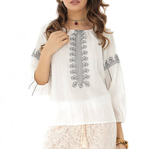 bluza cu broderie bleumarin stil ie roh br2065 8211 1
