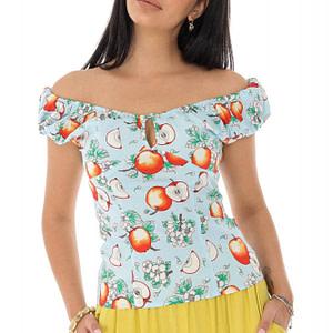 bluza cu imprimeu albastru roh br2328 9498 1