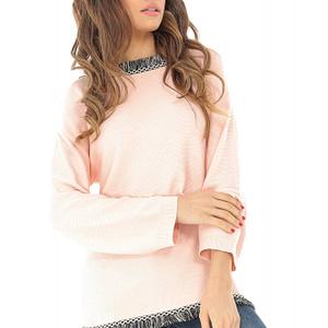 bluza cu maneca lunga peach roh br2084 8267 1