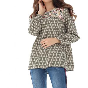 bluza cu maneci lungi si imprimeu multicolor roh br2044 8075 1