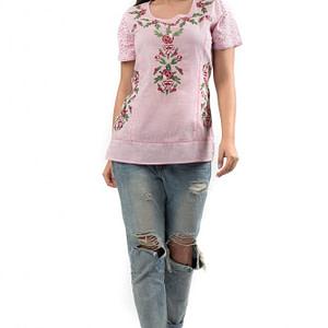 bluza din bumbac cu broderie br553 r 1657 1