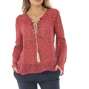 bluza din voal cu imprimeu roh br2123 8545 1