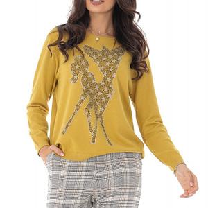 bluza galbena bambi cu aplicatii sralucitoare roh br2206 8914 1