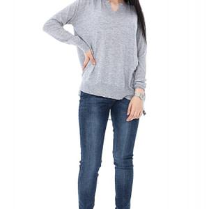 bluza gri accesorizata cu voal br1357 5643 1