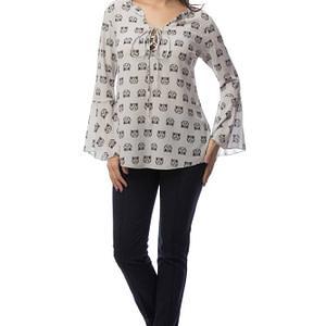 bluza gri cu imprimeu pisicute br1404 5841 1