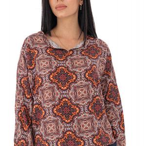 bluza lejera cu imprimeu paisley orange roh br2316 9441 1