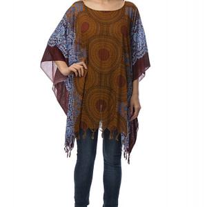 bluza maro cu franjuri br1390 5811 1