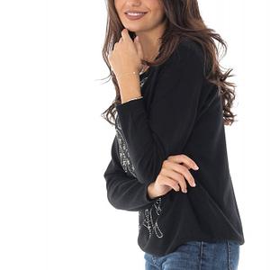 bluza neagra bambi cu aplicatii sralucitoare roh br2205 8913 1
