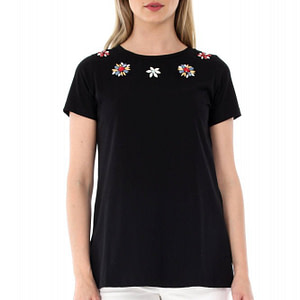 bluza neagra roh cu flori aplicate br1764 6992 1