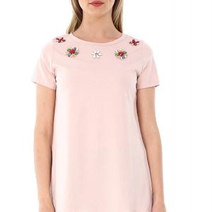 bluza peach roh cu flori aplicate br1765 6993 1