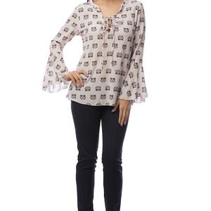bluza roz cu imprimeu pisicute br1402 5839 1
