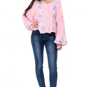 bluza roz roh cu broderie br1856 7366 1