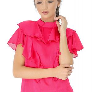 bluza roz roh cu volane br1832 7259 1