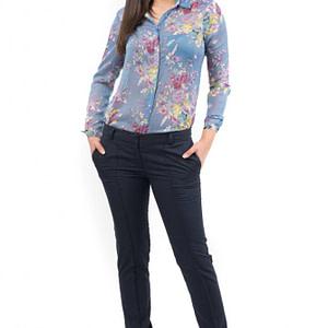 camasa albastra cu imprimeu floral de vara br1334 5535 1