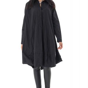 camasa de dama oversize roh neagra stil rochie br2372 9585 1