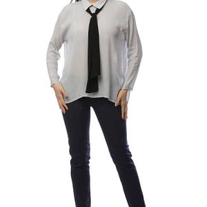 camasa gri accesorizata cu cravata neagra br1400 5830 1