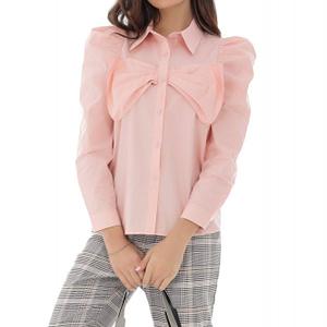 camasa roz din bumbac cu funda in fata roh br2243 9107 1