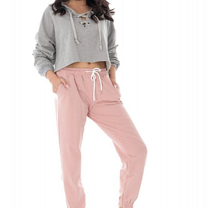 casual jogging pants with a drawstring waist pink roh tr394 9427 1