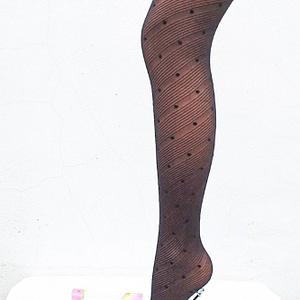 ciorapi dama negri cu dungi si buline roh a0411 8842 1