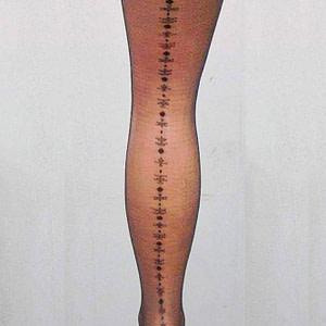 ciorapi dama negri cu model la spate roh a0410 8841 1