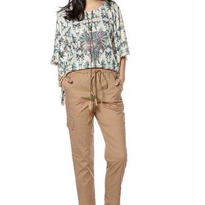 classic cotton cargo pants beige roh tr363 9262 1