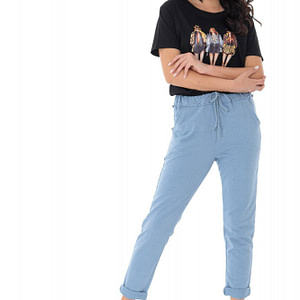 easy fit jogging bottoms in soft cotton blue roh tr369 9378 1